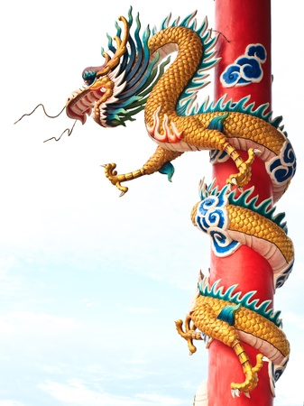 Chinese style dragon statue Stock Photo - 10318399
