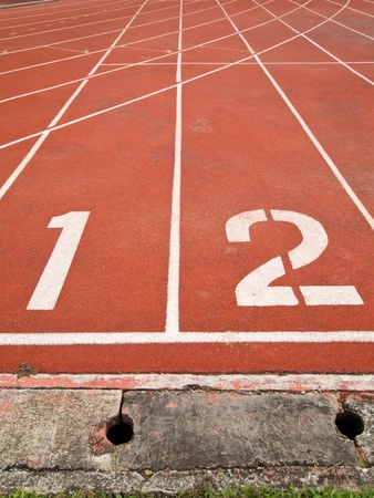Running track numbers in front of tracks
