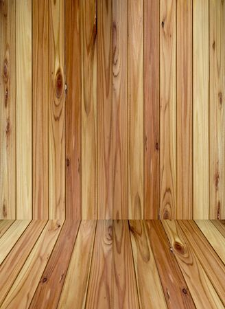 wood room with panel and floor background  Stock Photo
