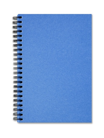 The Blue cover of Note book Stock Photo