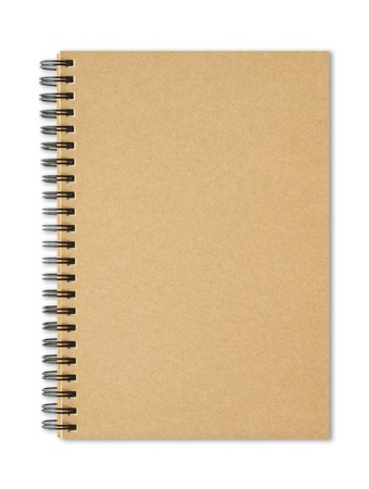 recycled paper notebook front cover Stock Photo - 10761471