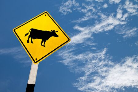hole in one: cow sign