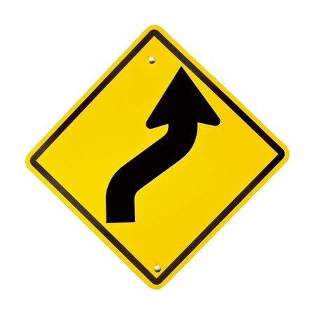yellow road sign  photo