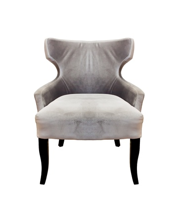 Isolated Soft Black Stylish Chair