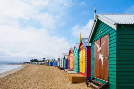 case colorate: case da bagno colorati, Brighton Beach a Melbourne