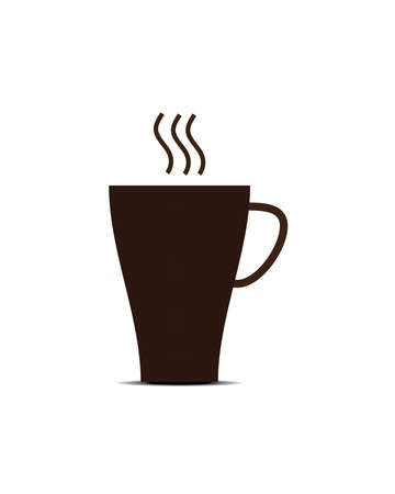 coffee cup on the white background. it brawn cup.