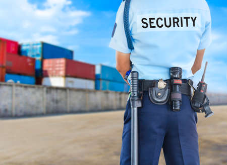 commerce and industry: Security guard Stock Photo