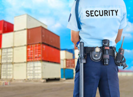 security monitoring: Security guard Stock Photo