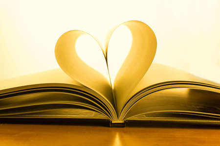Book of love with a heart