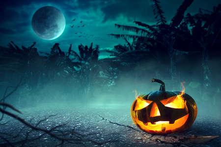 Halloween Night Concept 版權商用圖片