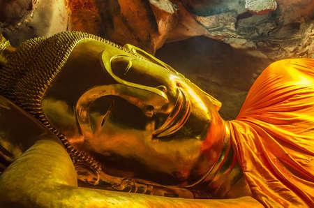 Buddha statue at Khao Luang Cave, Phetchaburi province, Thailand. January  13, 2018