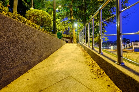 exert: Steep path in the public park. take exercise