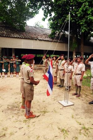 pioneering: CHUMPHON,THAILAND February 15-17:   Boy Scouts of Muanglangsuan school camping activities trip of the year 2012.On February 15-17,2012 in Chumphon,Thailand.