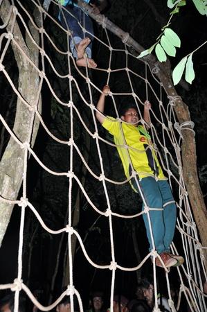 scouts: CHUMPHON,THAILAND February 15-17:   Boy Scouts of Muanglangsuan school camping activities trip of the year 2012.On February 15-17,2012 in Chumphon,Thailand.