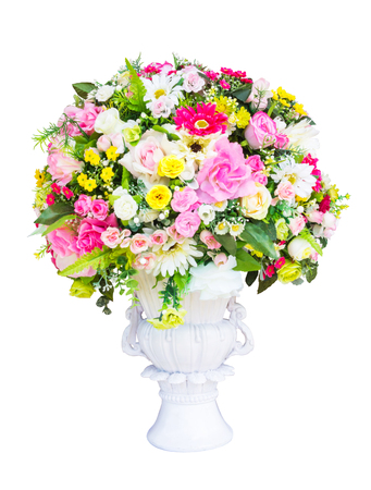 Decorative artificial flowers photo