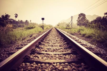 vintage railroad Standard-Bild