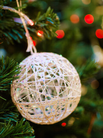 Christmas decorations on Christmas tree photo
