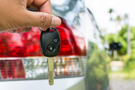 Car key in hand photo