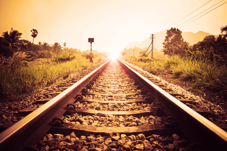 vintage railroad Archivio Fotografico