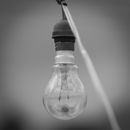 old bulb light with black and white effect Stock Photo