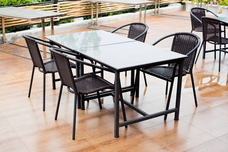 dining table: dining table in restaurant