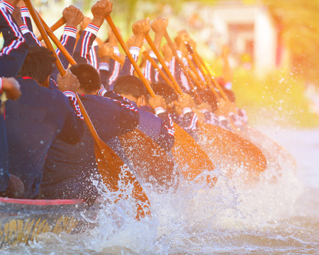 color tone: rowing team race and color tone effect