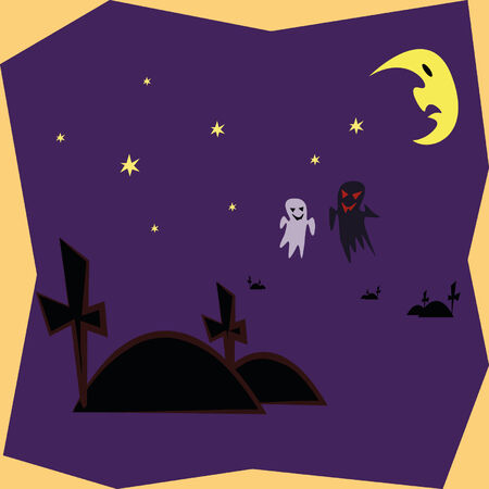 ghost in dark night Vector
