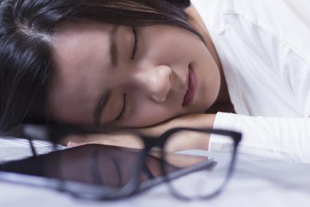 Woman take a nap