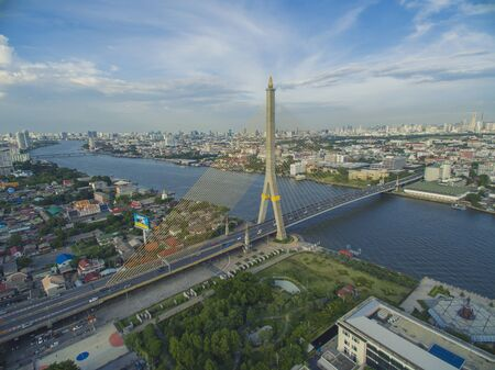 rama: Rama Viii Bridge Aerial Shot