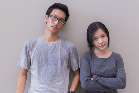 pareja enojada: Pares enojados no hablar