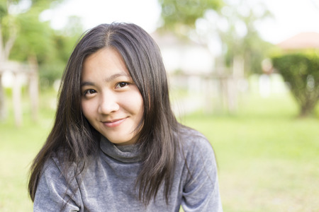 asian trees: Happy Woman