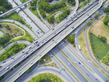 country highway: Aerial of Freeway