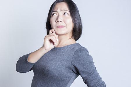 negative thinking: Woman Thinking: Negative Thinking