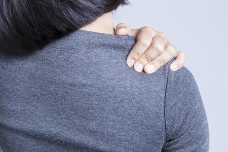 Office Syndrome: Shoulder Pain Archivio Fotografico