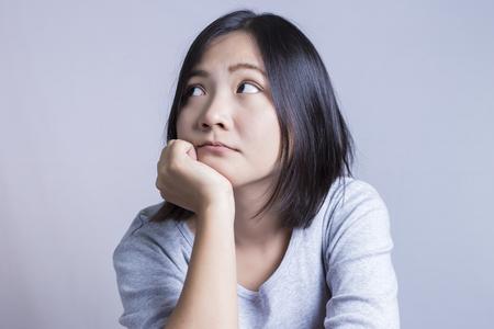 negative: Woman Thinking: Negative Thinking
