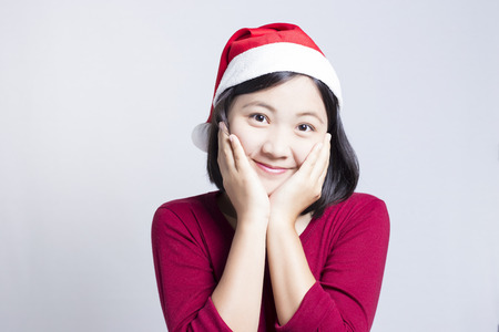 Happy Woman in Christmas Day