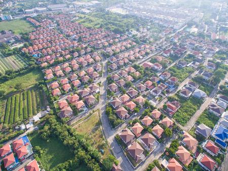 Aerial shot of housing Banco de Imagens