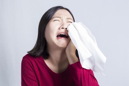 Kadın o kadar Sad ve Cry Stok Fotoğraf