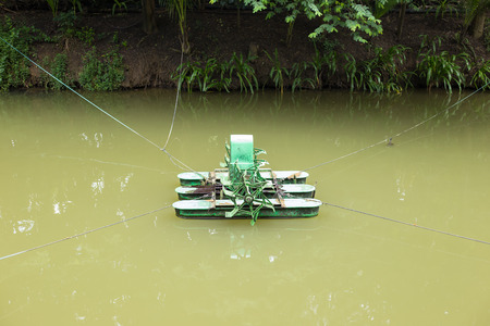 water turbine: Water Turbine in Pond
