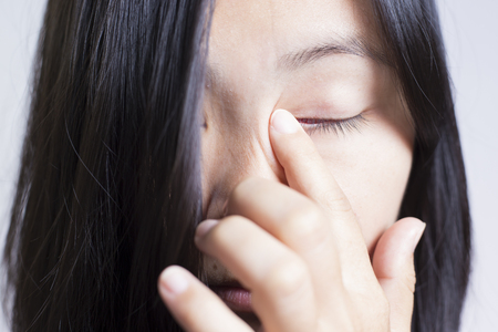 rubbing: Woman Rubbing Her Eye