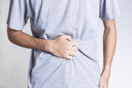Hombre del dolor de estómago Foto de archivo - 50186914