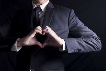 Businessman in Love Stock Photo