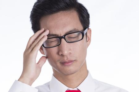 head ache: Businessman Has Head Ache