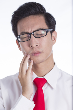 tooth ache: Businessman Has Tooth Ache