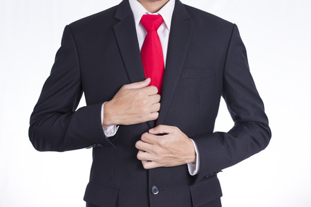 dressing up: Businessman Dressing Up a Black Suit
