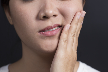 tooth ache: Woman has Tooth Ache