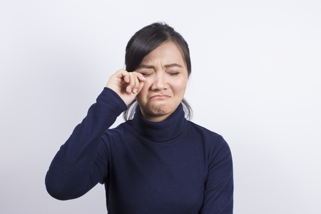 disappoint: Emotional Portrait: Sad woman Stock Photo