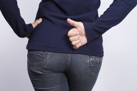 Woman has Diarrhea Holding her Butt Banco de Imagens - 51208479