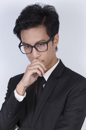 despondent: Business man feel confused
