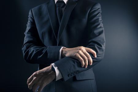 Businessman has arm pain